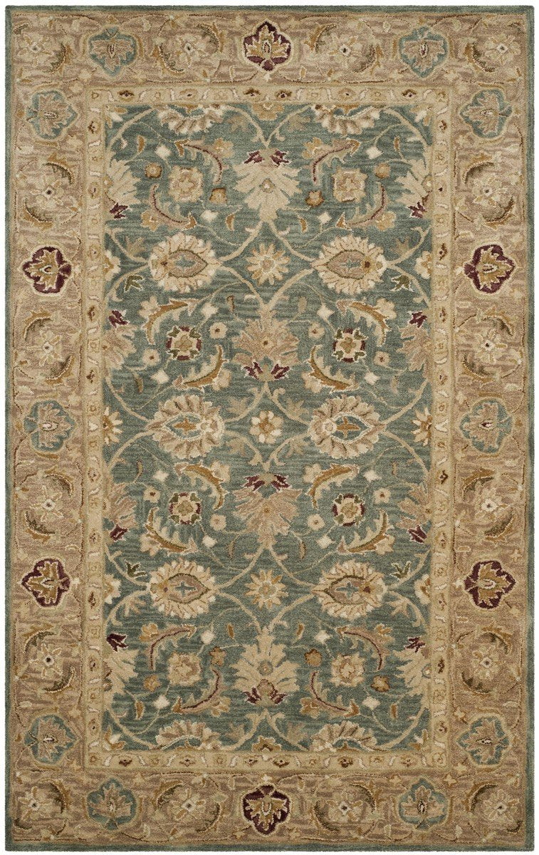 Safavieh Rugs Antiquity AT849B Teal Blue | Taupe