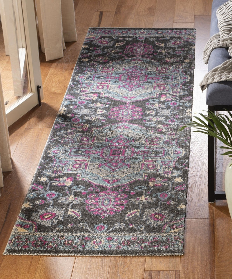 Safavieh Rugs Artisan ATN507K Black | Light Blue