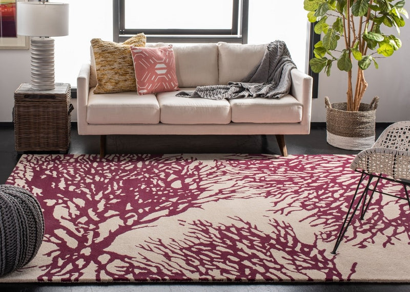 Safavieh Rugs Bella BEL115A Beige | Purple