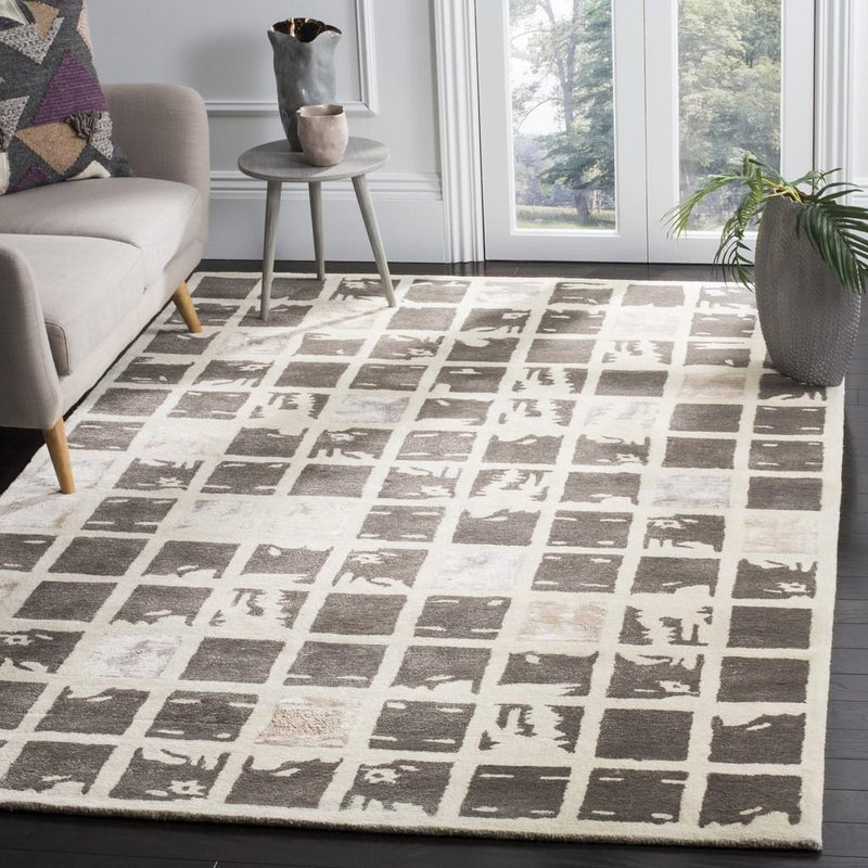 Safavieh Rugs Bella BEL130A Dark Grey | Ivory