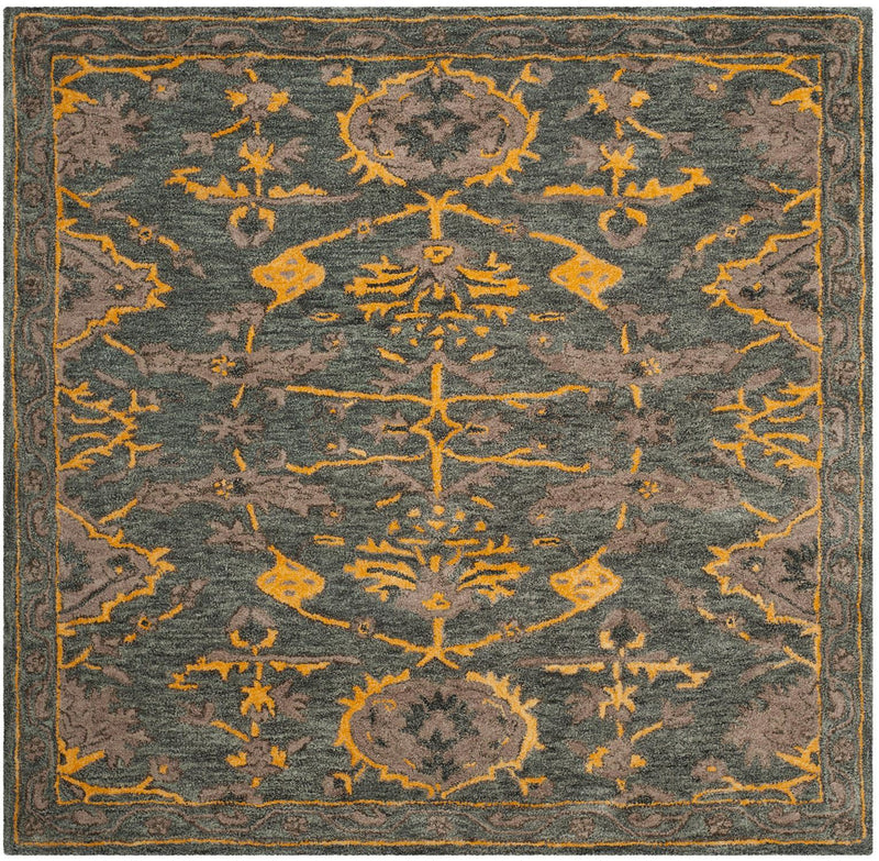 Safavieh Rugs Bella BEL671A Blue Grey | Gold