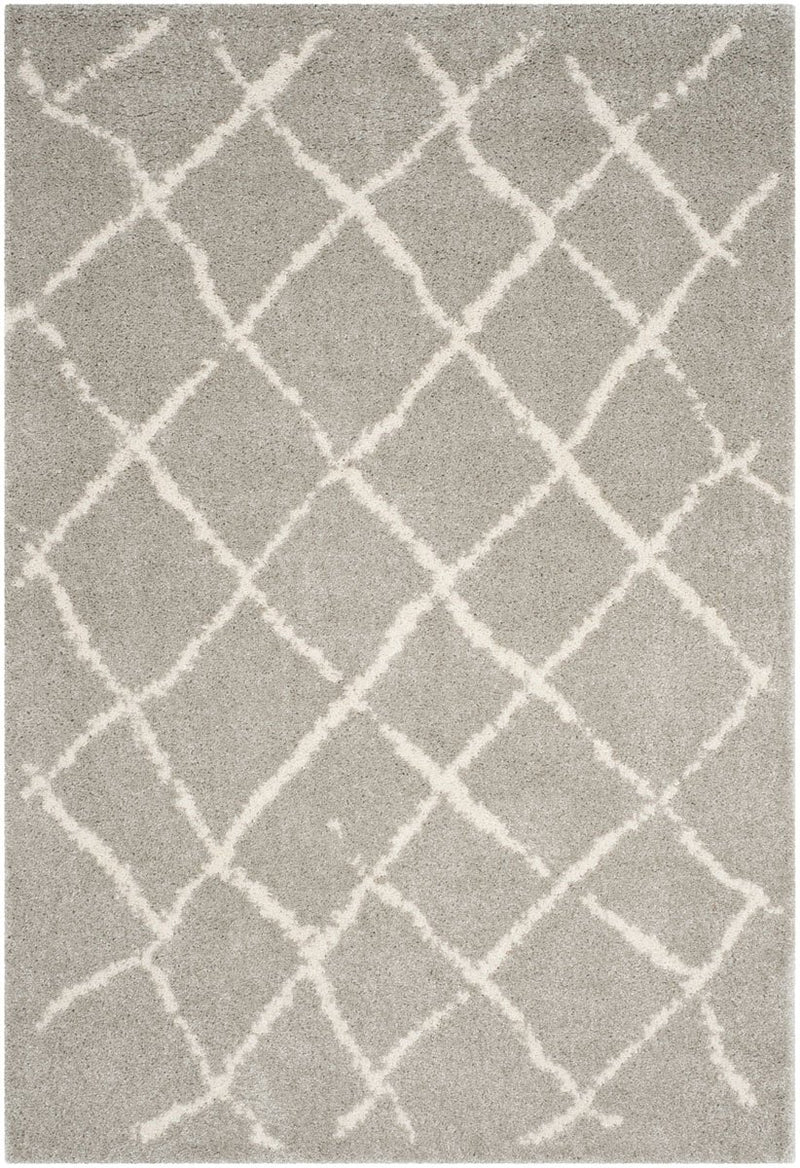 Safavieh Rugs Berber Shag BER162B Light Grey | Cream