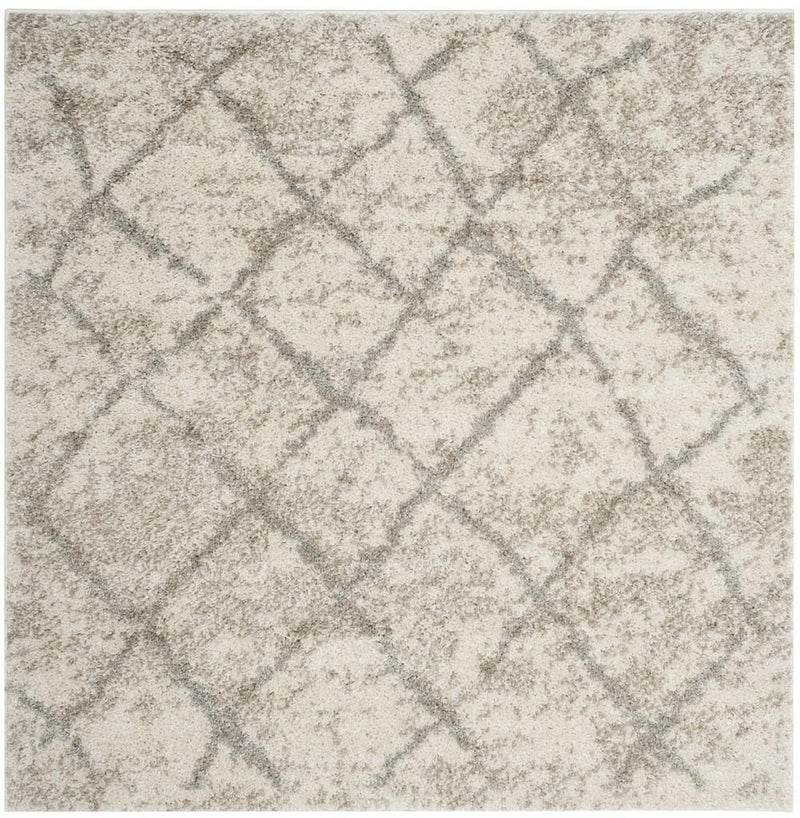 Safavieh Rugs Berber Shag BER162C Cream | Light Grey