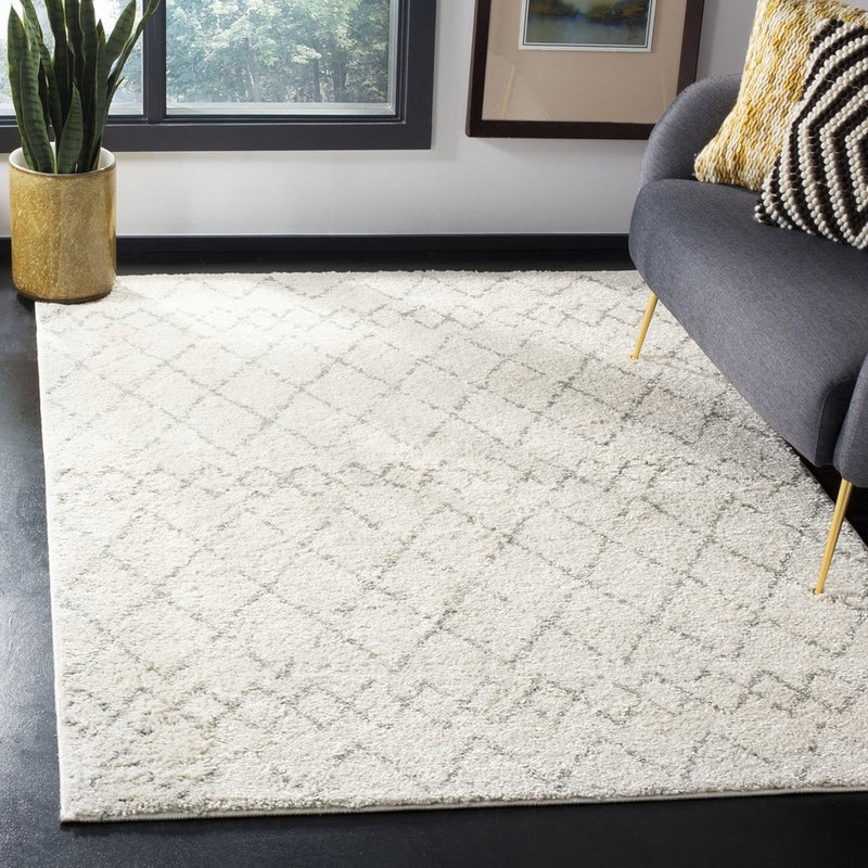 Safavieh Rugs Berber Shag BER165C Cream | Light Grey