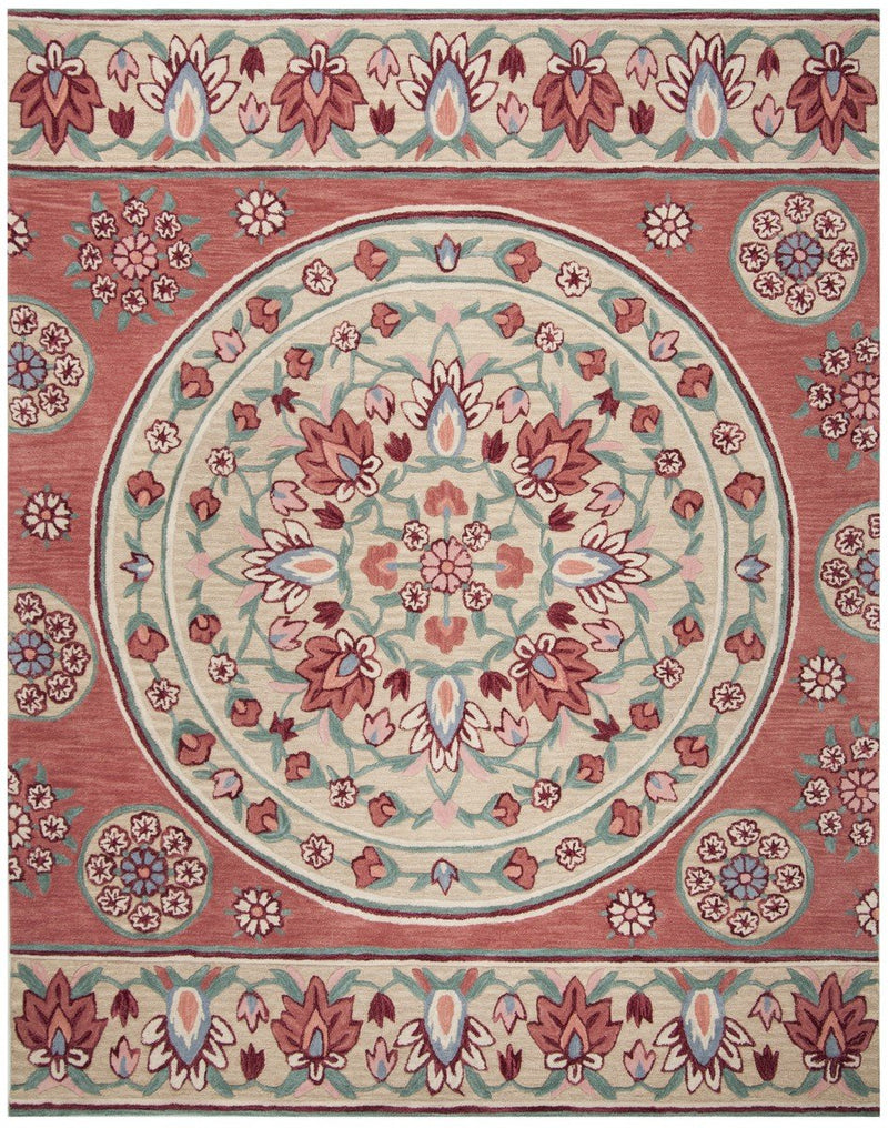 Safavieh Rugs Bellagio BLG601Q Red | Beige