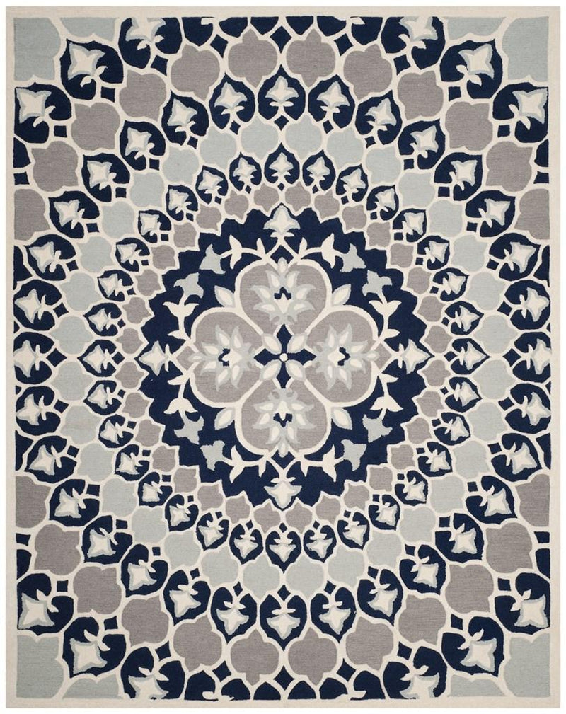 Safavieh Rugs Bellagio BLG610C Navy Blue | Ivory