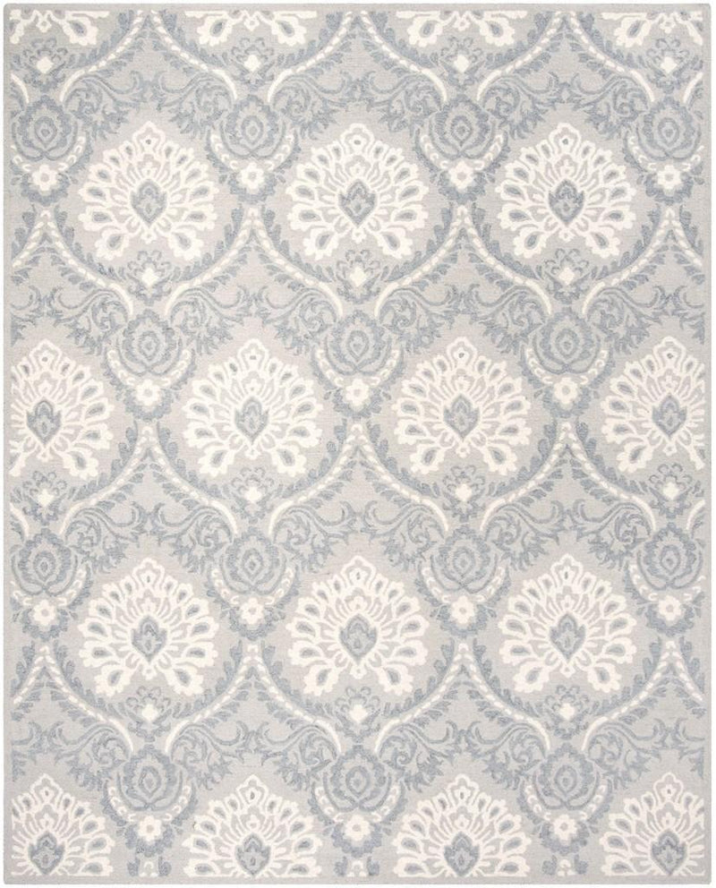 Safavieh Rugs Blossom BLM106A Light Grey | Ivory