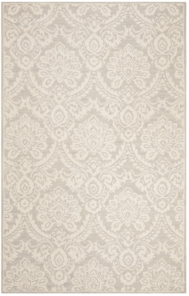 Safavieh Rugs Blossom BLM106G Silver | Ivory