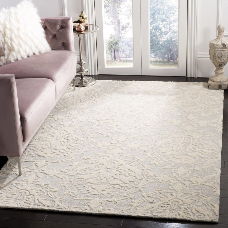 Safavieh Rugs Blossom BLM107A Light Grey | Ivory