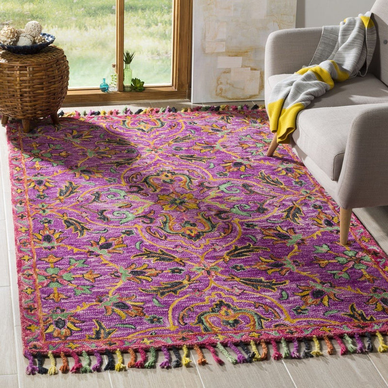 Safavieh Rugs Blossom BLM451A Purple | Multi