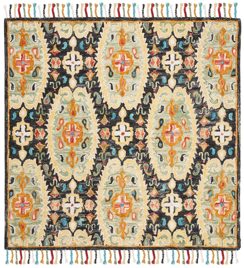 Safavieh Rugs Blossom BLM454A Charcoal | Gold