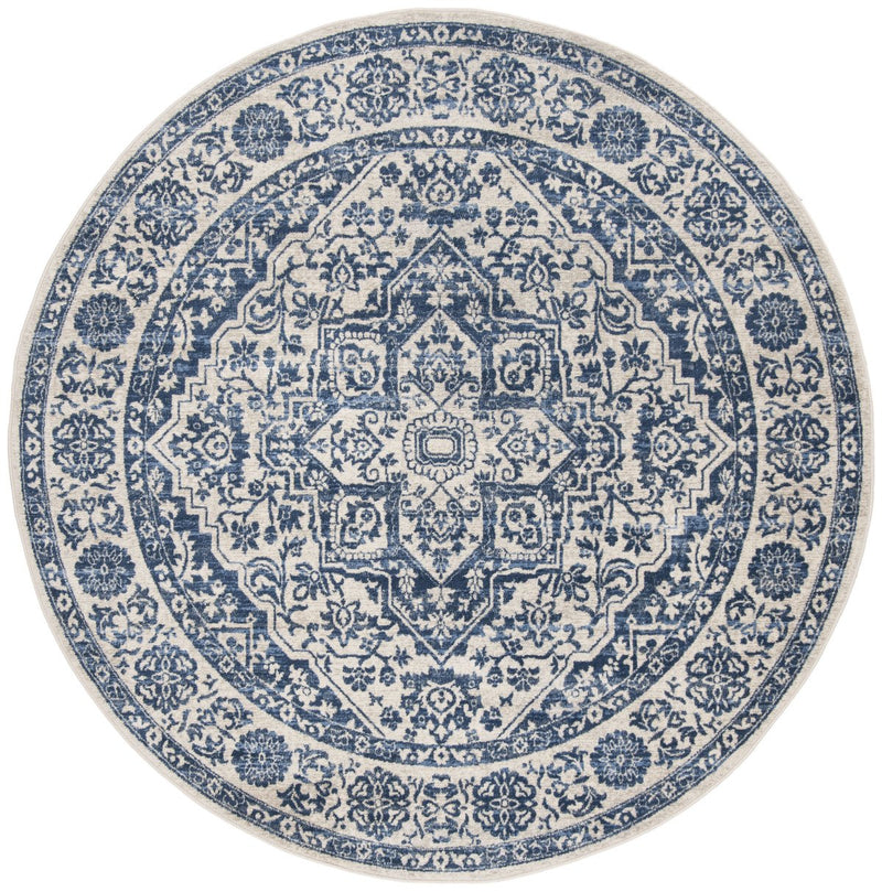 Safavieh Rugs Brentwood BNT832M Navy | Light Grey