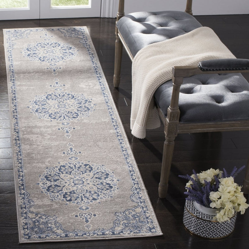 Safavieh Rugs Brentwood BNT867G Light Grey | Blue