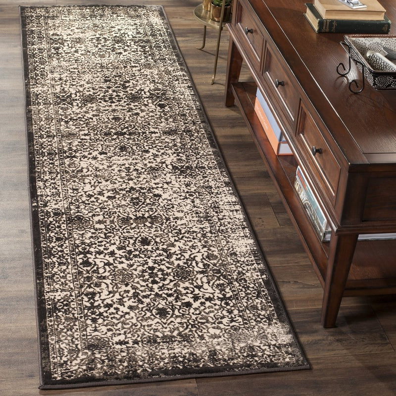Safavieh Rugs Brilliance BRL504C Creme | Black