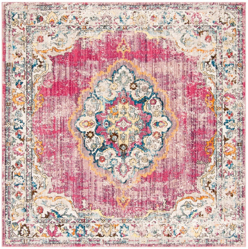 Safavieh Rugs Bristol BTL343B Fuchsia | Light Grey
