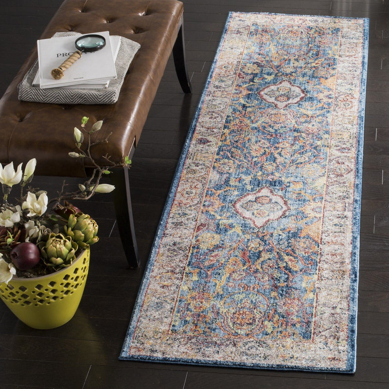 Safavieh Rugs Bristol BTL361C Blue | Light Grey