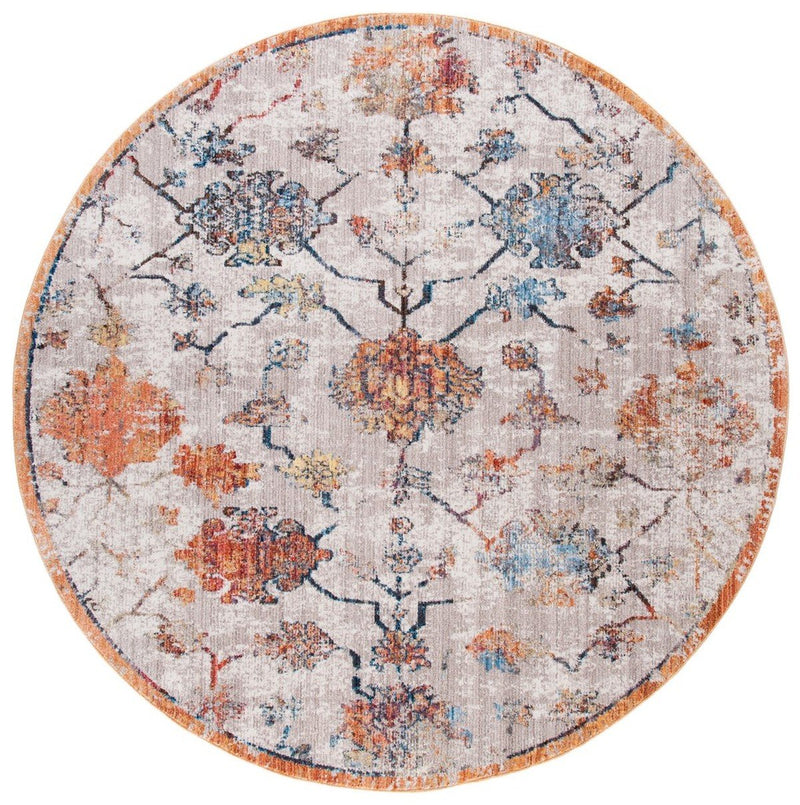 Safavieh Rugs Bristol BTL444F Grey | Orange