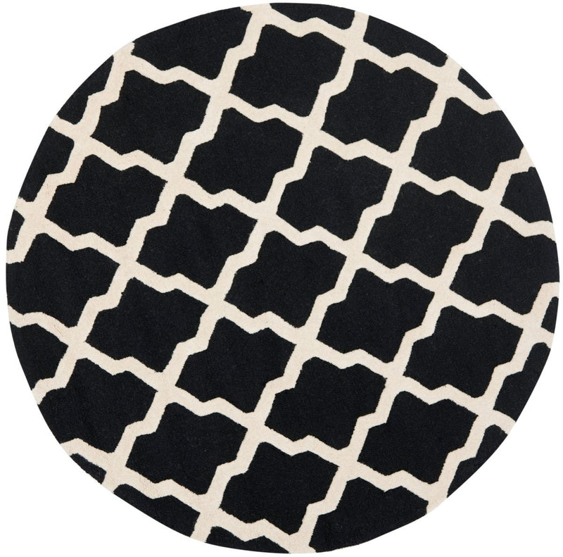 Safavieh Rugs Cambridge CAM121E Black | Ivory