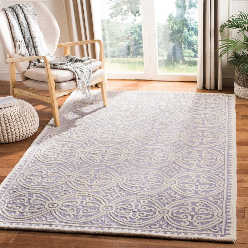 Safavieh Rugs Cambridge CAM123C Lavander | Ivory