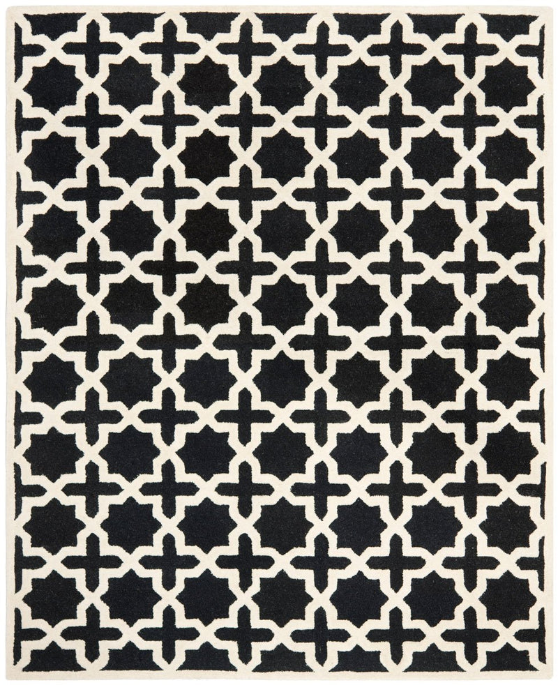 Safavieh Rugs Cambridge CAM125E Black | Ivory