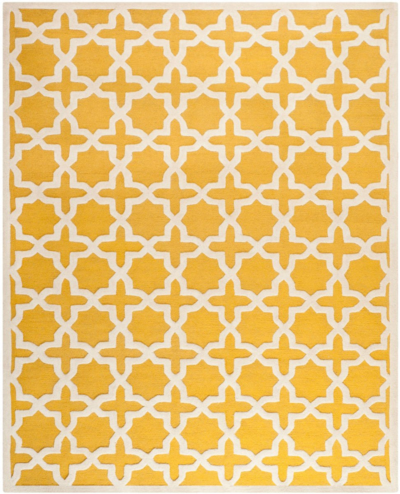 Safavieh Rugs Cambridge CAM125Q Gold | Ivory