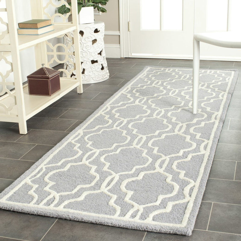 Safavieh Rugs Cambridge CAM131D Silver | Ivory