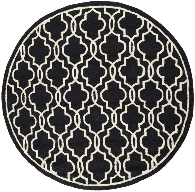 Safavieh Rugs Cambridge CAM131E Black | Ivory