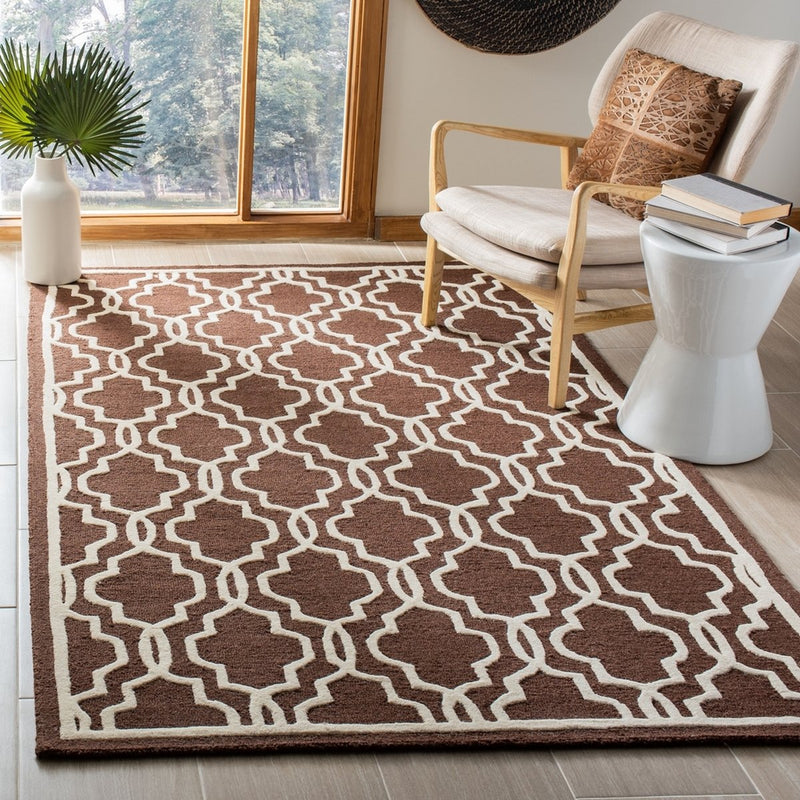 Safavieh Rugs Cambridge CAM131H Dark Brown | Ivory