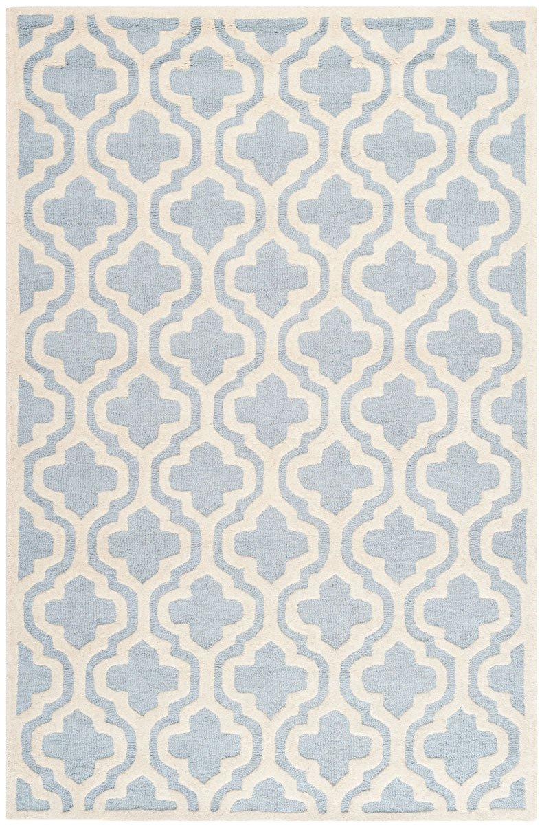 Safavieh Rugs Cambridge CAM132A Light Blue | Ivory