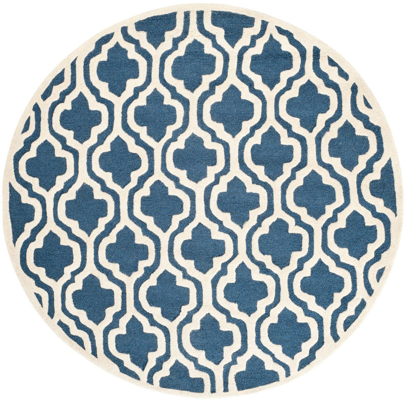 Safavieh Rugs Cambridge CAM132G Navy | Ivory