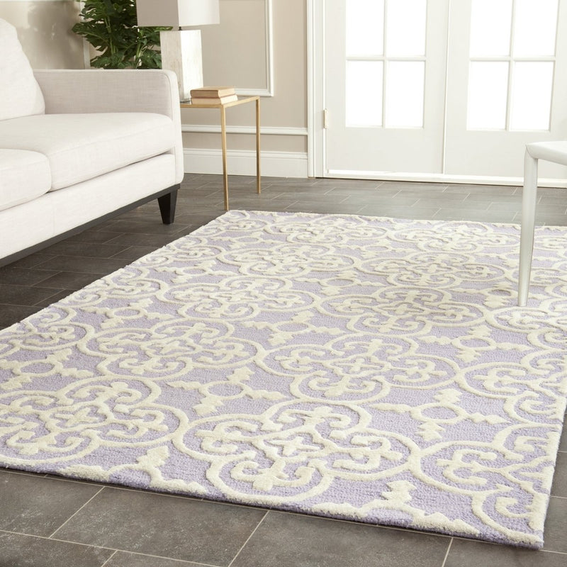 Safavieh Rugs Cambridge CAM133C Lavander | Ivory