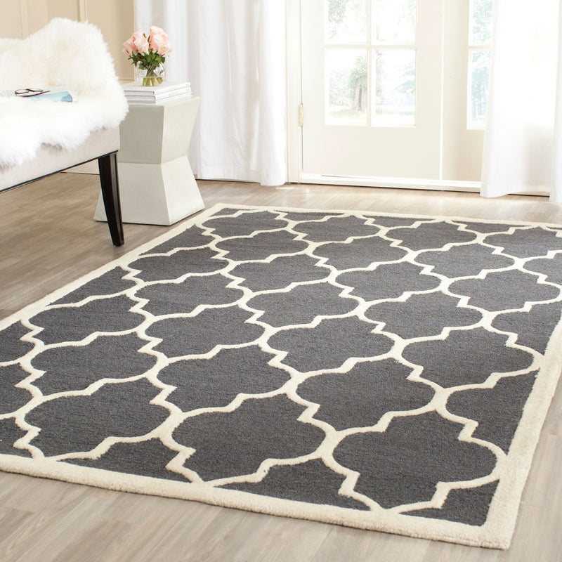 Safavieh Rugs Cambridge CAM134X Dark Grey | Ivory