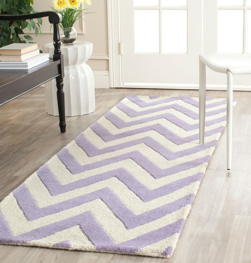 Safavieh Rugs Cambridge CAM139C Lavander | Ivory