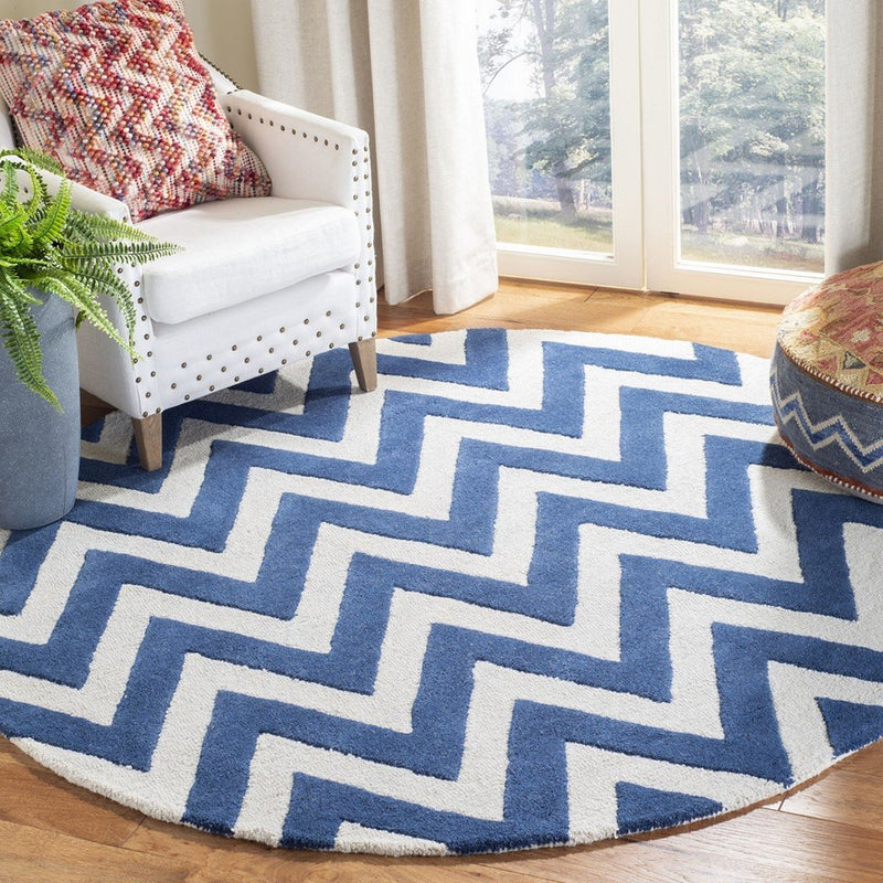 Safavieh Rugs Cambridge CAM139G Navy | Ivory