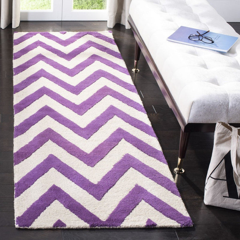 Safavieh Rugs Cambridge CAM139K Purple | Ivory