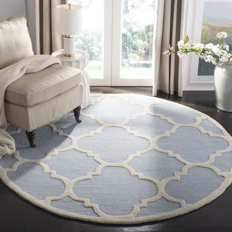 Safavieh Rugs Cambridge CAM140A Light Blue | Ivory