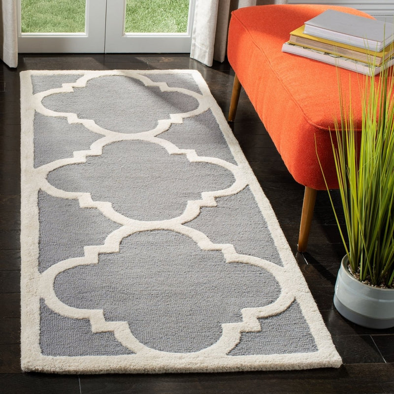 Safavieh Rugs Cambridge CAM140D Silver | Ivory