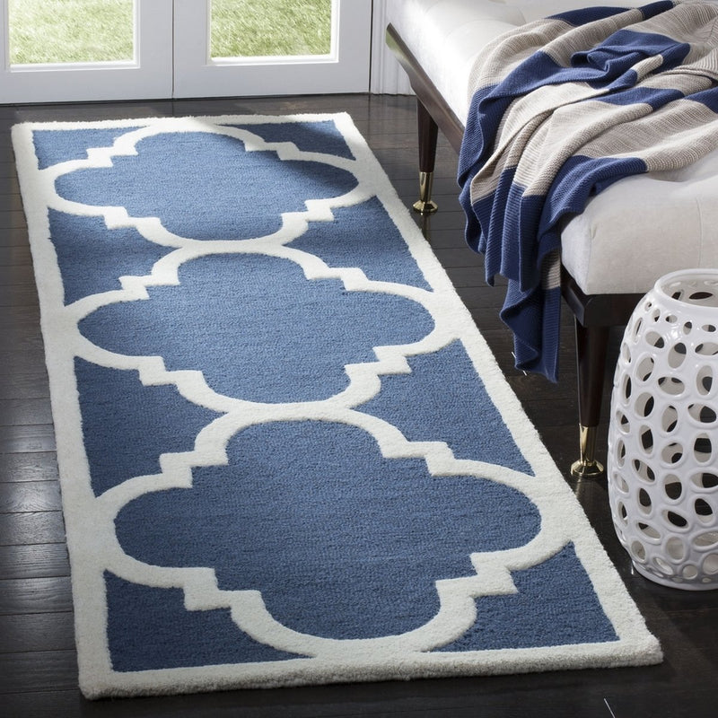 Safavieh Rugs Cambridge CAM140G Navy | Ivory