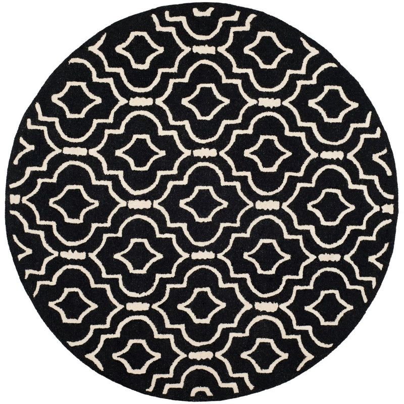 Safavieh Rugs Cambridge CAM141E Black | Ivory