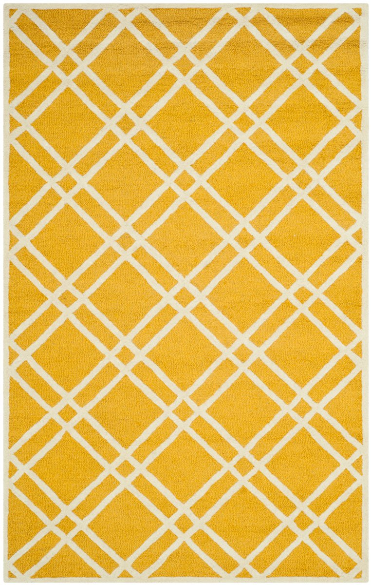 Safavieh Rugs Cambridge CAM142Q Gold | Ivory