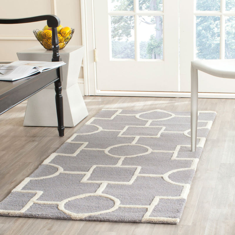 Safavieh Rugs Cambridge CAM143D Silver | Ivory