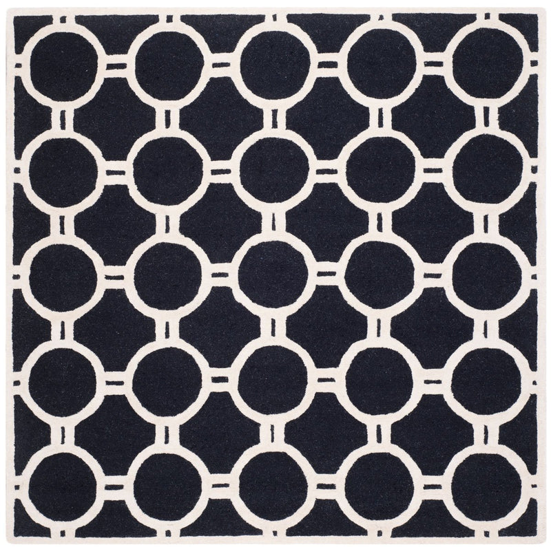 Safavieh Rugs Cambridge CAM145E Black | Ivory