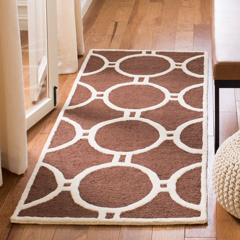 Safavieh Rugs Cambridge CAM145H Dark Brown | Ivory