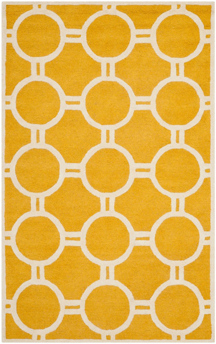 Safavieh Rugs Cambridge CAM145Q Gold | Ivory