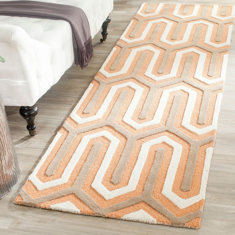 Safavieh Rugs Cambridge CAM351Y Orange | Grey