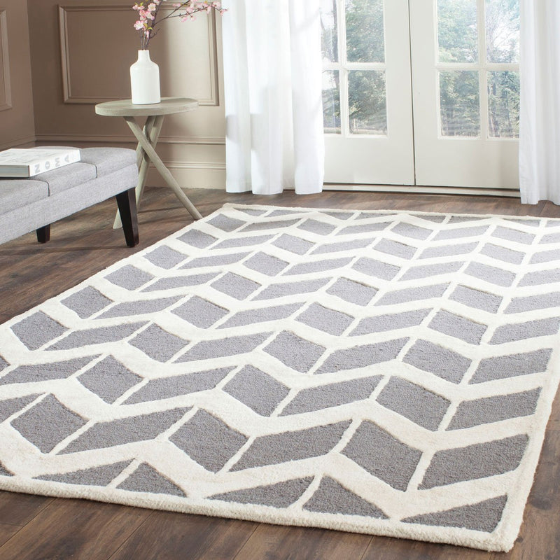 Safavieh Rugs Cambridge CAM718D Dark Grey | Ivory