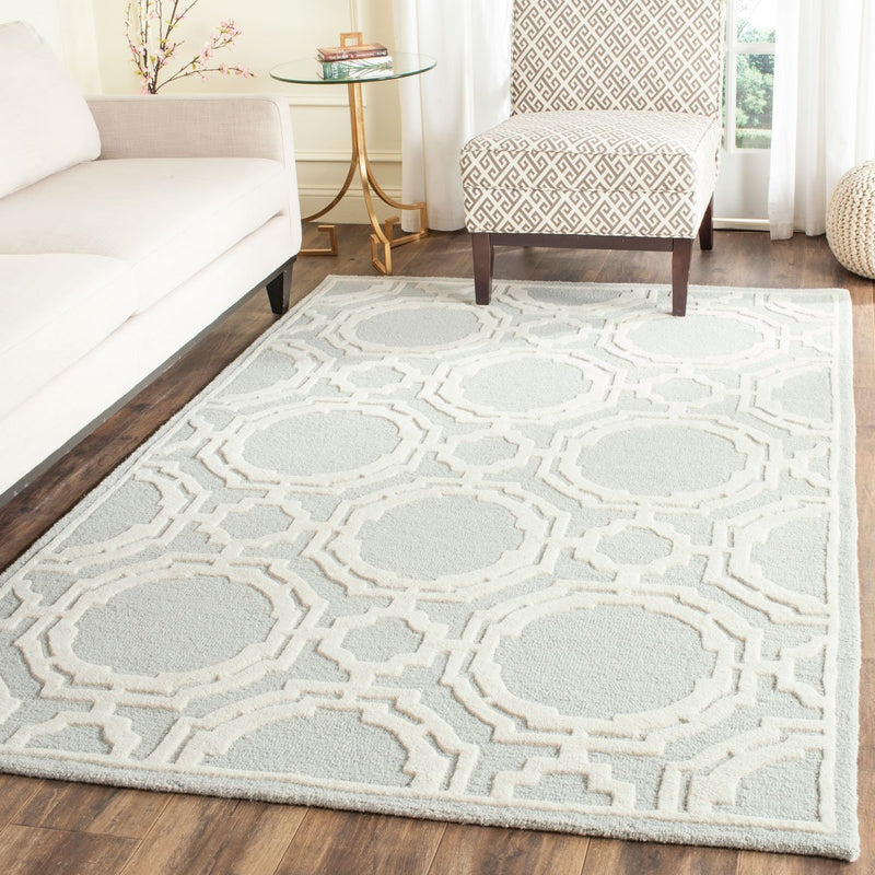 Safavieh Rugs Cambridge CAM721G Grey | Ivory