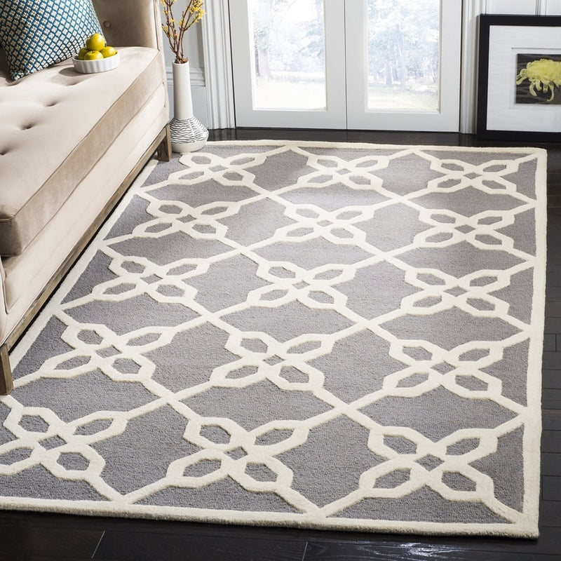 Safavieh Rugs Cambridge CAM722D Dark Grey | Ivory