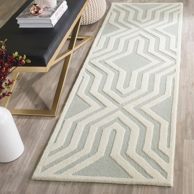 Safavieh Rugs Cambridge CAM724G Grey | Ivory
