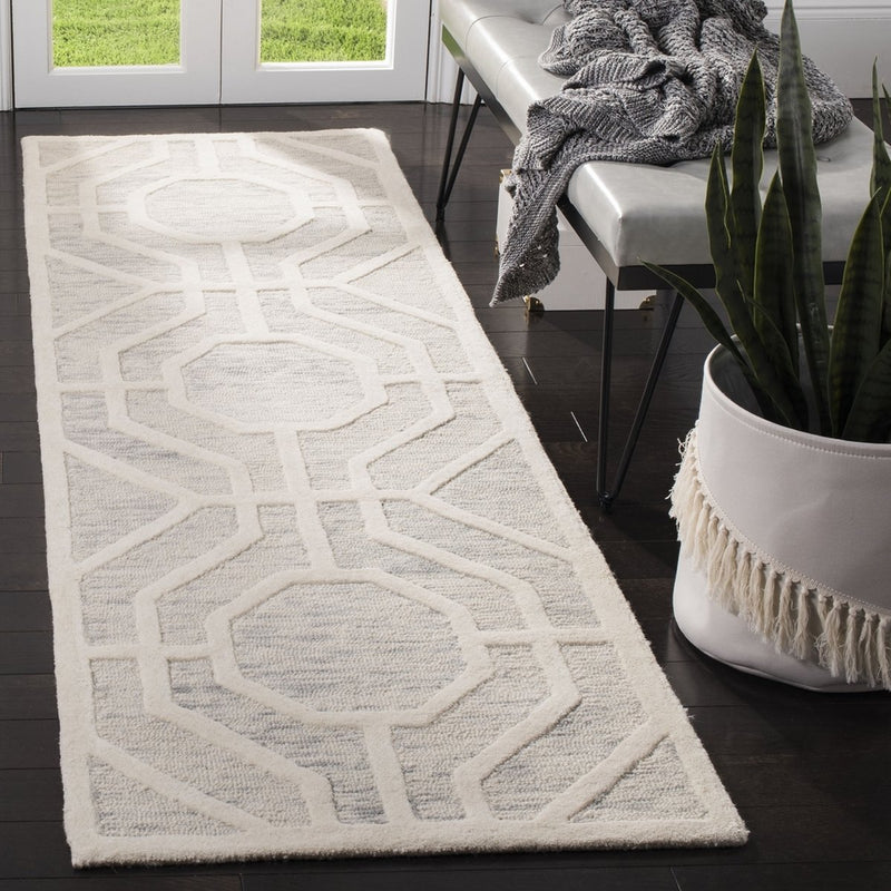 Safavieh Rugs Cambridge CAM726G Light Grey | Ivory